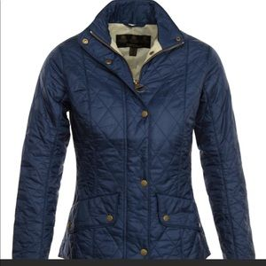 NWT Barbour Flyweight Cavalry Jacket Size 4 Navy